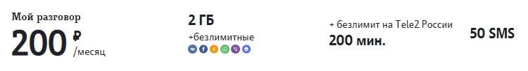 """лучший тариф теле2 для звонков """"Мой Разговор"""""""