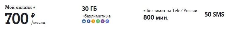 """лучший тариф теле2 для звонков """"Мой онлайн плюс"""""""